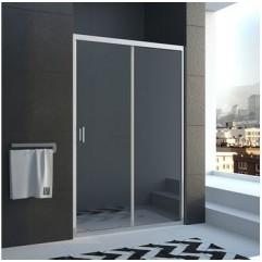 Дверь в нишу 110*190см  раздвижная, стекло прозрачное, профиль хром