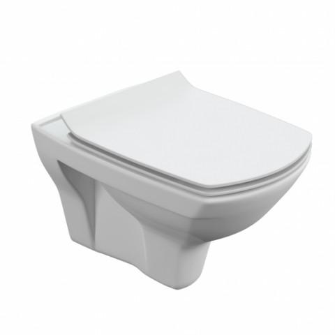 CARINA XL NEW CLEAN ON Подвесной унитаз с кр.дюро, SLIM, белый (S-MZ-CARINA-XL-COn-S-DL-w)