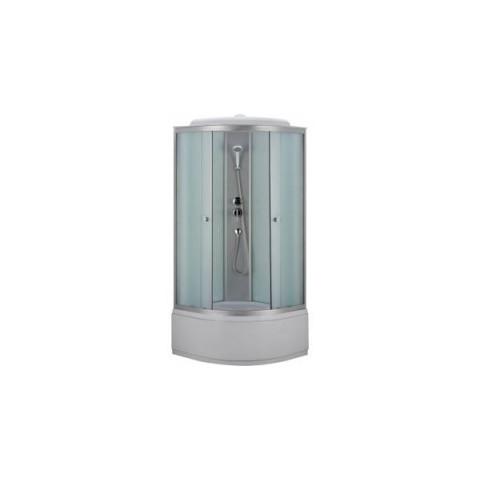Душ. каб. NG-3302-14G (1000*1000*2150) низкий поддон (26см) ГИДРОМАССАЖ стекло МАТОВОЕ купить за 25 523 руб. в Симферополе
